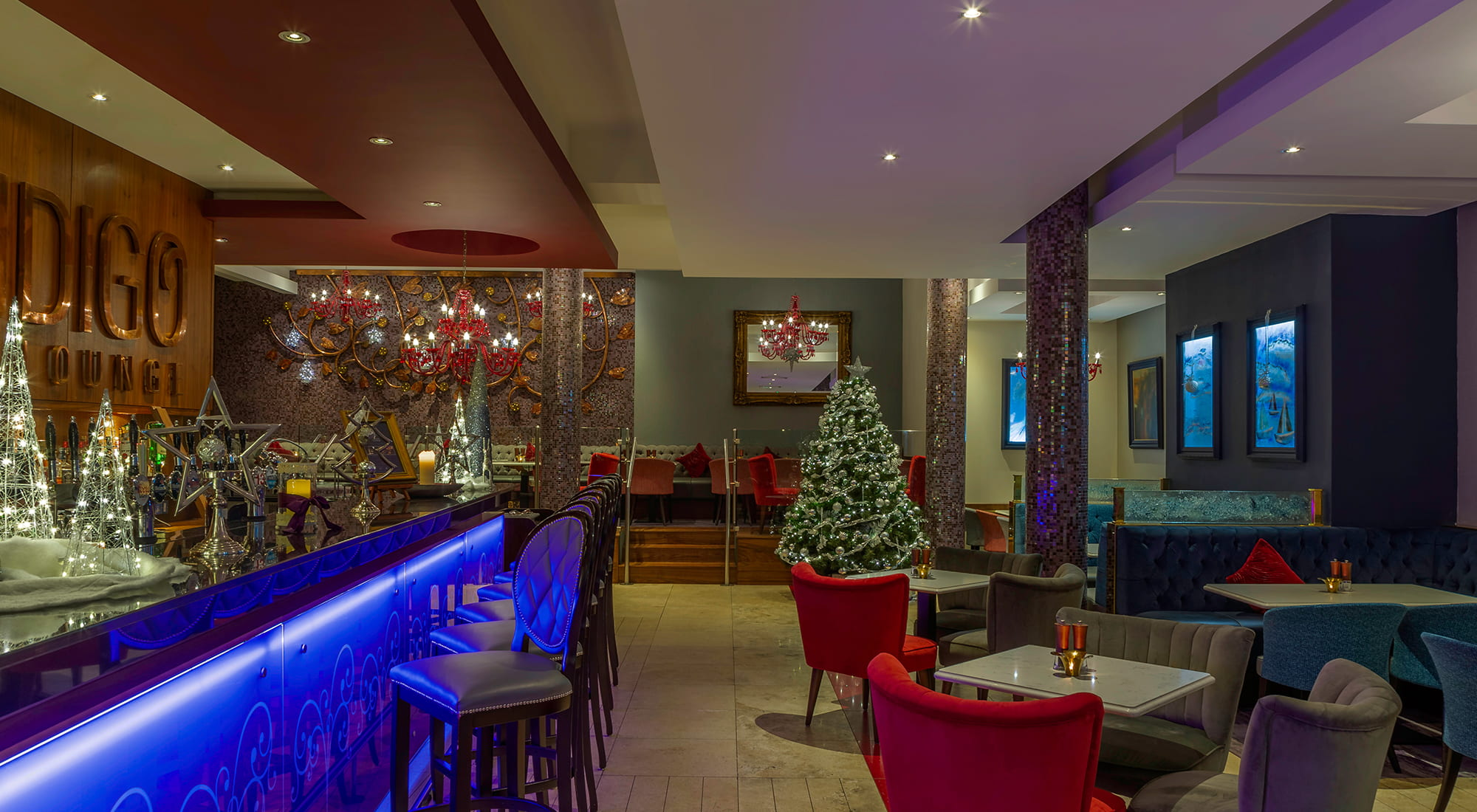 Indigo Lounge at Christmas