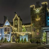 Clontarf Castle at Christmas